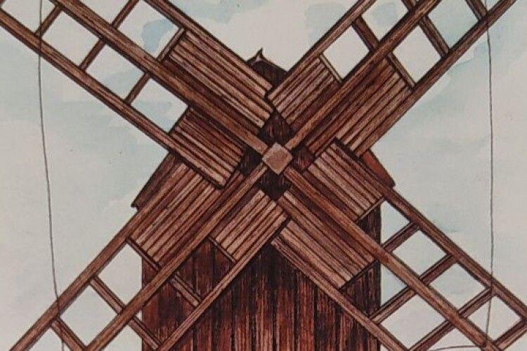 Вітряний млин із Старовижівщини зберігається в музеї в Пироговому