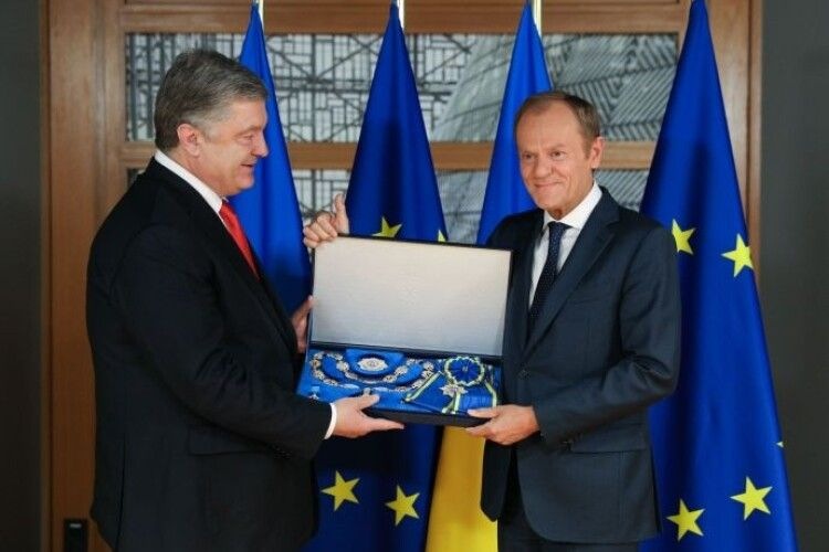 Президент України Петро Порошенко нагородив президента Європейської Ради Дональда Туска орденом Ярослава Мудрого (фото)