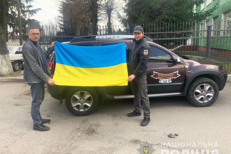 Поліція встановила крадіїв синьо-жовтого прапора в Луцьку