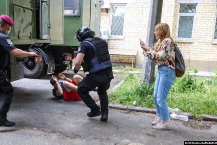 Поліція побила і затримала прихильників Сергія Стерненка (Фото)