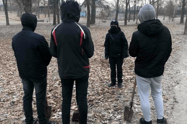 Хлопців, які «билися» з деревцем на Волині, змусили взятися за лопати (Відео)