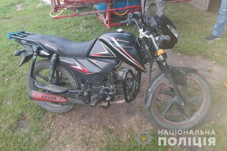 На Волині розшукали викрадений у січні мотоцикл