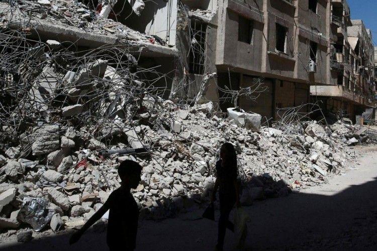 Російська авіація бомбить житлові квартали поблизу Дамаска