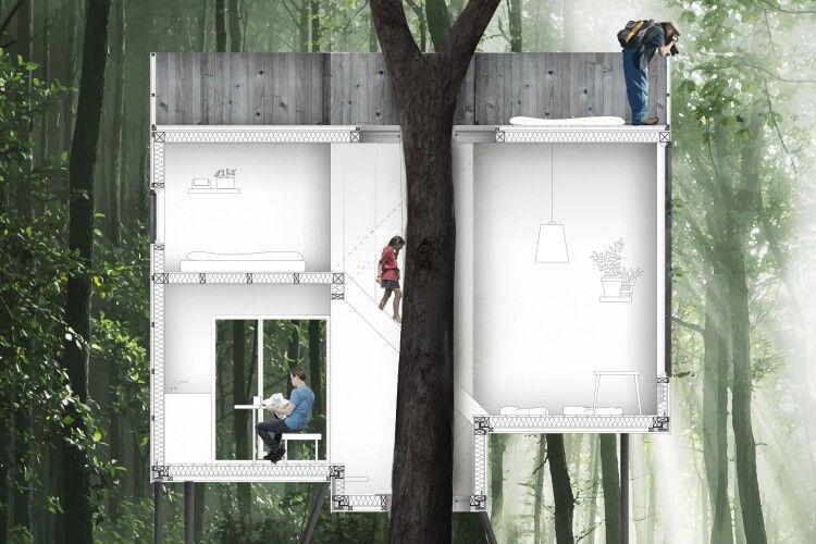 У Данії на дереві відкрили готель (Фото)