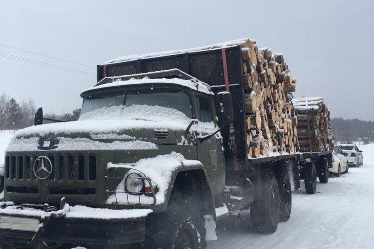 На Волині викрили злочинну групу, яка займалась незаконною порубкою лісу (Фото)