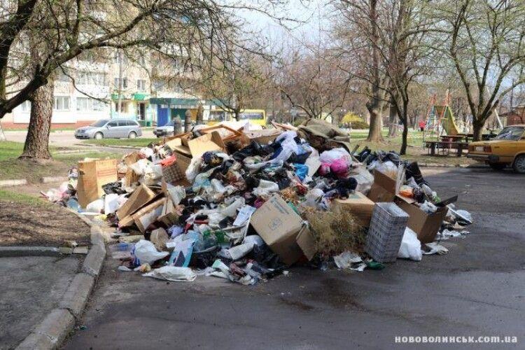 Волинянку в квартирі ледь не засипало сміттям (Фото)