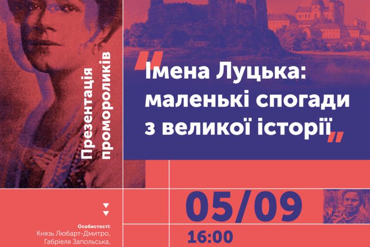 Імена Луцька: в обласному центрі презентують сім відеороликів про історію міста