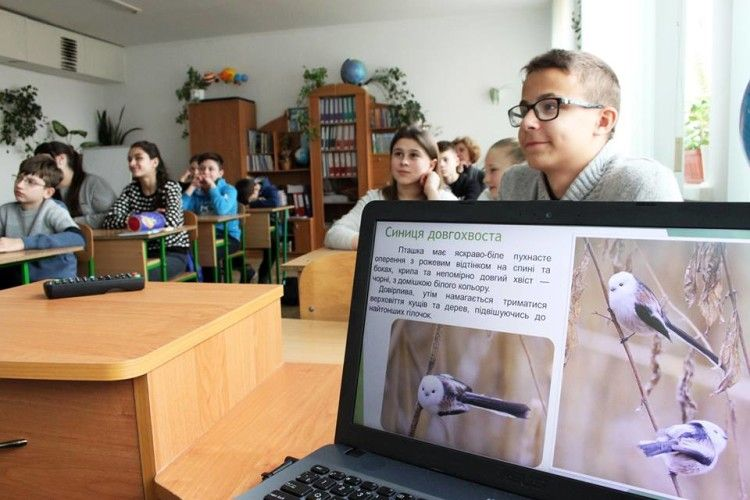 Рівненських школярів закликали будувати годівнички для довгохвостої синички (фото)