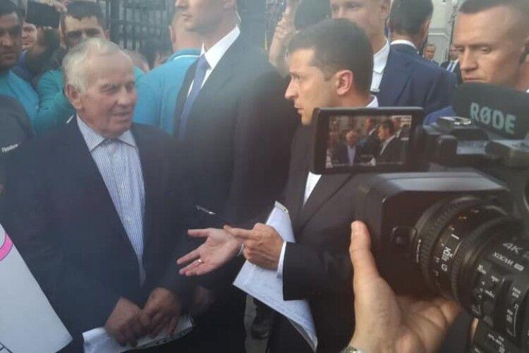Президент Зеленський зустрівся із пікетувальниками з Волині