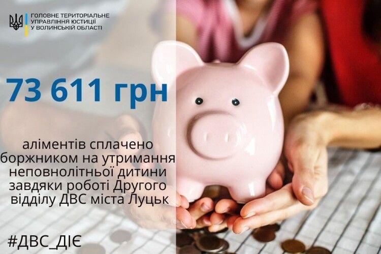 Батько з Волині заплатив 73 тисячі гривень аліментів і 36 тисяч – штрафу