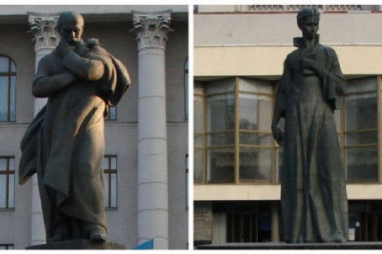 Митрополит ПЦУ хоче поміняти місцями пам'ятники Тарасу Шевченку та Лесі Українці у Луцьку