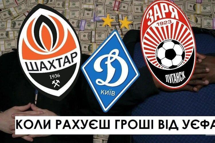 Скільки Динамо і Шахтар заробили у єврокубках?