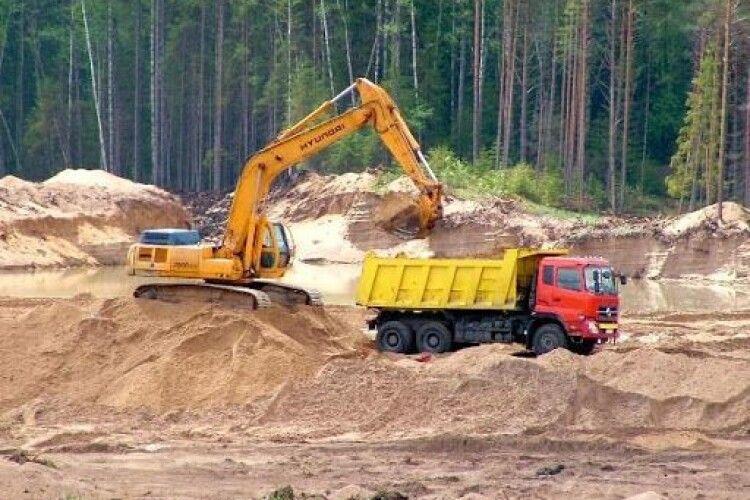 У волинській громаді міркують, як легалізувати видобуток піску