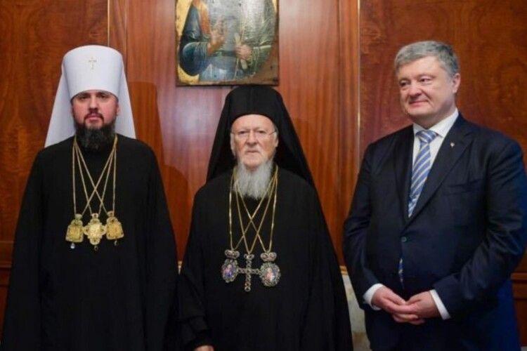 Петро Порошенко привітав з річницею підписання Томосу про автокефалію Православної церкви України