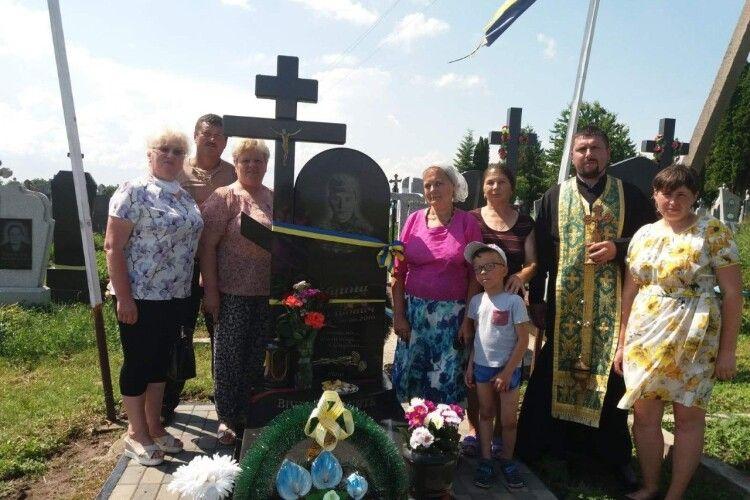 На Волині згадали молитвою загиблого на Донбасі Андрія Ліщину