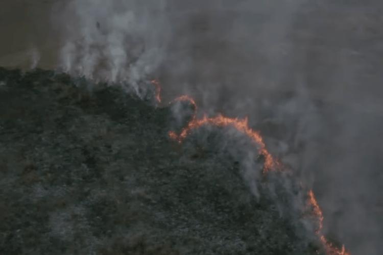 У Рівному горить Пагорб Слави (Відео)