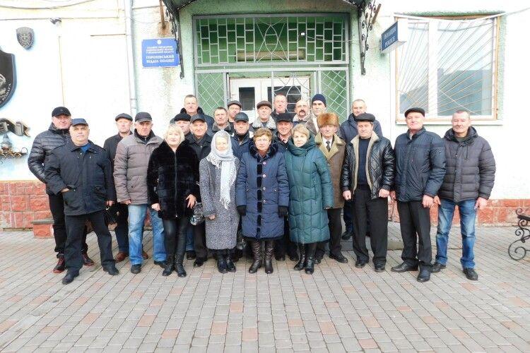 На Горохівщині ветерани міліції помолилися за душі померлих колег (Фото)