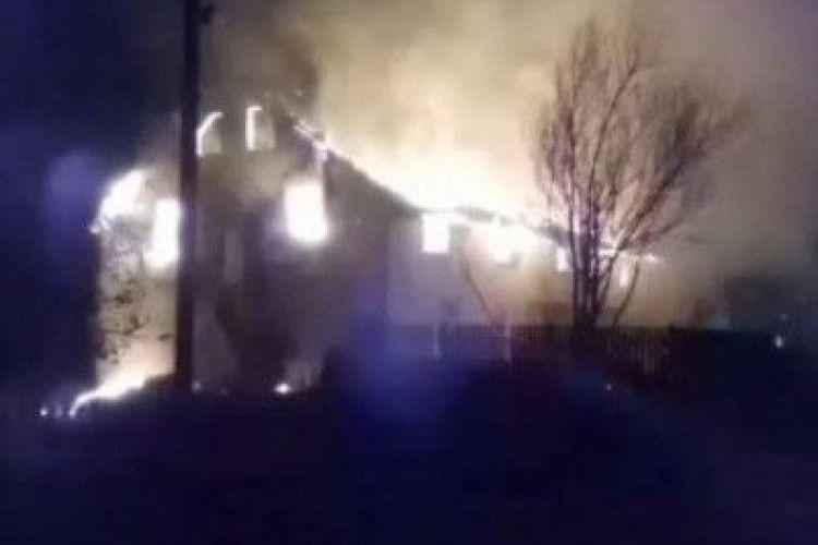 На Маневиччині згоріла недільня школа