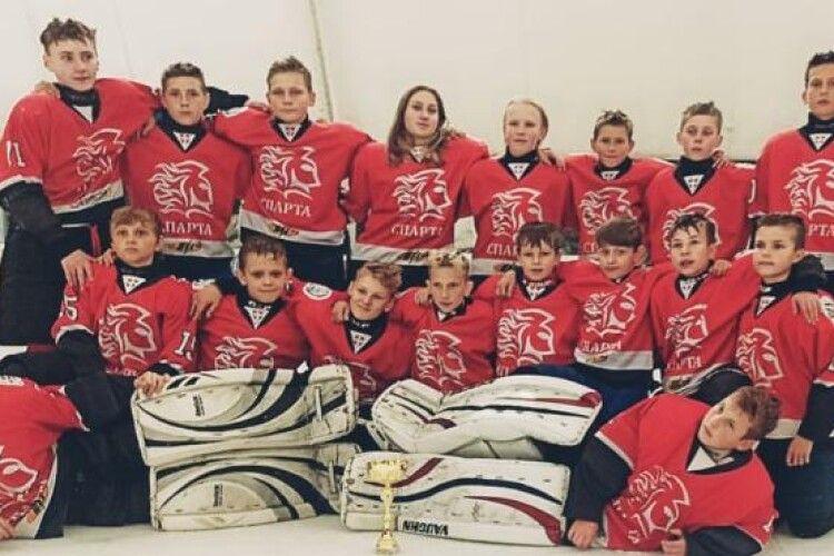 Юні хокеїсти з Волині посіли призове місце на турнірі