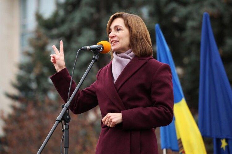 Майя Санду підтвердила, що її візит в Україну стане першою закордонною поїздкою на посту президента Молдови