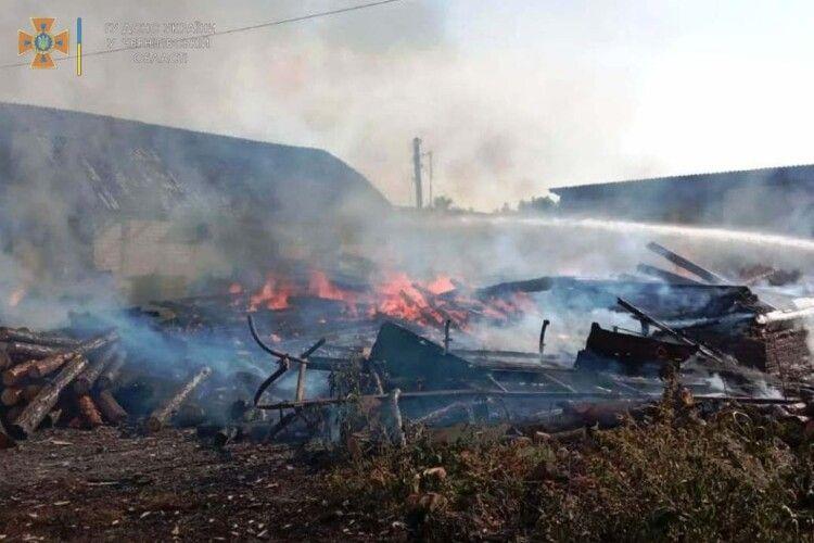 Діти випадково спалили два будинки і авто (Фото)