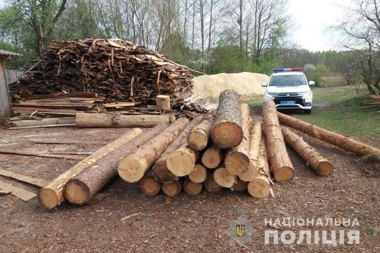 У Ковелі поліція розслідує факт незаконного зберігання лісу (Фото)