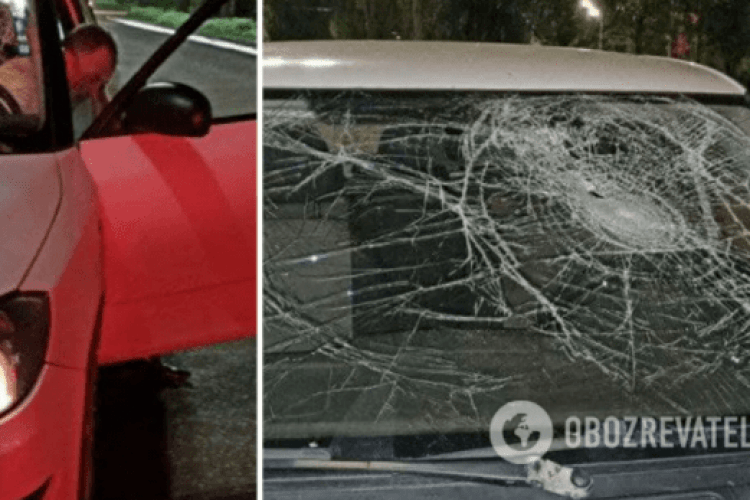 Таксист збив і провіз хлопця на капоті близько 500 метрів (Відео)