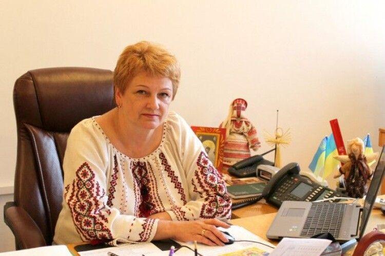 Звільнилася з посади заступник голови Волинської ОДА Світлана Мишковець