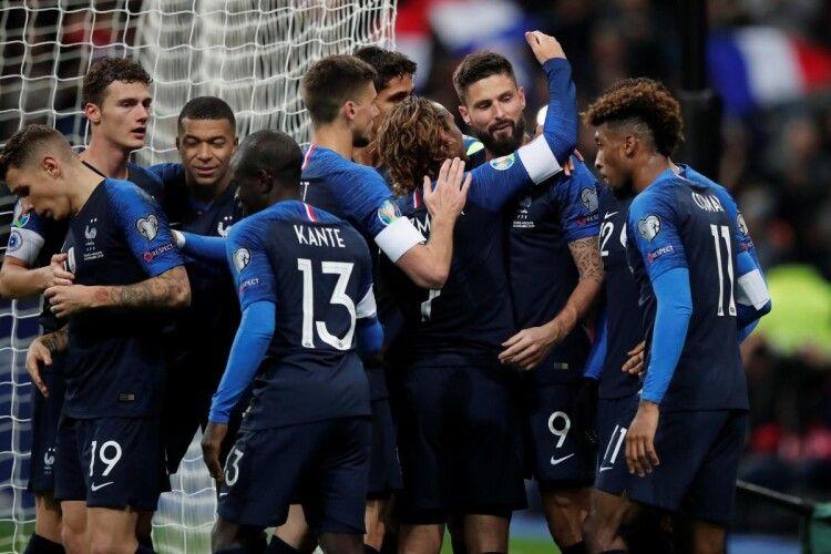 Букмекери вважають фаворитами Євро-2020 збірні Франції, Англії та Бельгії