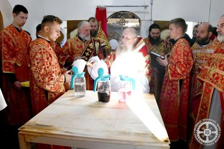 На Горохівщині освятили новозбудований храм Московського патріархату (Фото)
