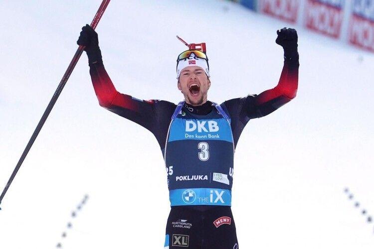 Норвежець Стурла Легрейд став чотириразовим чемпіоном світу з біатлону