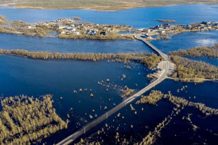 У Лапландії сильні повені через швидке танення снігу