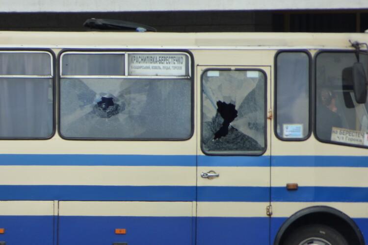 Показали, як терорист заходив в автобус «Краснилівка – Берестечко» (Відео)