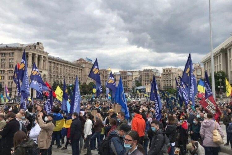 На Майдані триває акція «Рік Зеленського. Рік реваншу» (Відео)