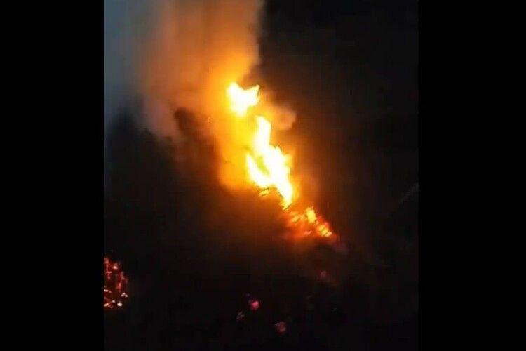 Вогонь – у ріст людини: у Луцьку спіймали порушника (Відео)