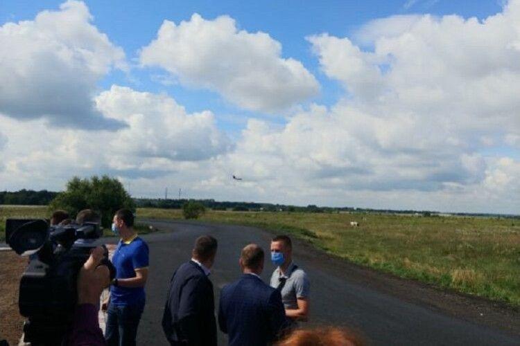Президентський борт приземлився на волинську землю (Фото)