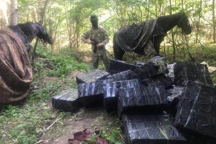 На Буковині затримали «кінний караван» із куривом (відео)