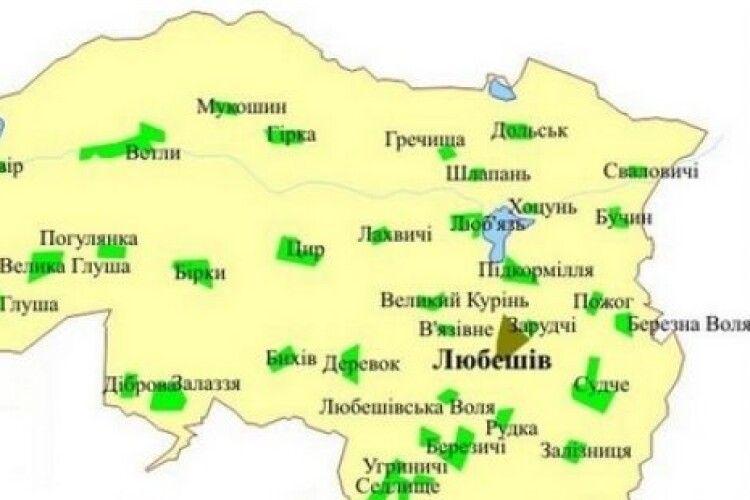 Коронавірус на Любешівщині: в яких селах хворіють найбільше