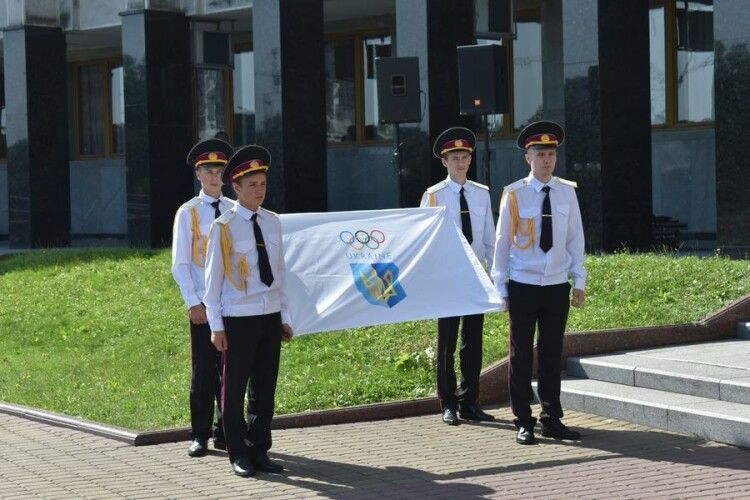 На Волині підняли олімпійський прапор: вісім наших спортсменів поїхали на Олімпіаду