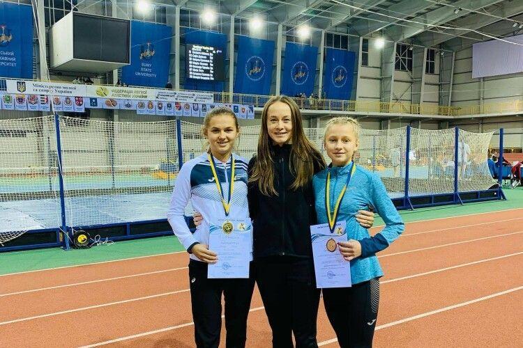 Золото, срібло і бронза: любешівські легкоатлетки на чемпіонаті України показали поліський характер (Фото)