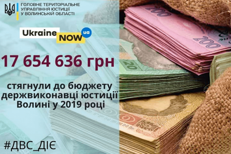 Державні виконавці Волині поповнили бюджет на 17 мільйонів гривень