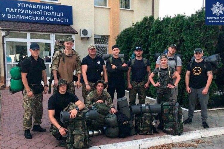 40 кілометрів пішки лісами Волині здолали патрульні поліцейські (Фото)