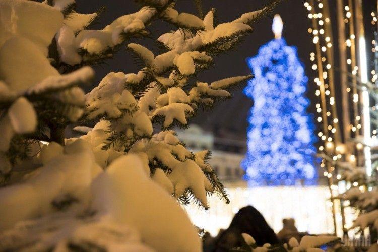 У Чорноморську «роздягнули» новорічну ялинку