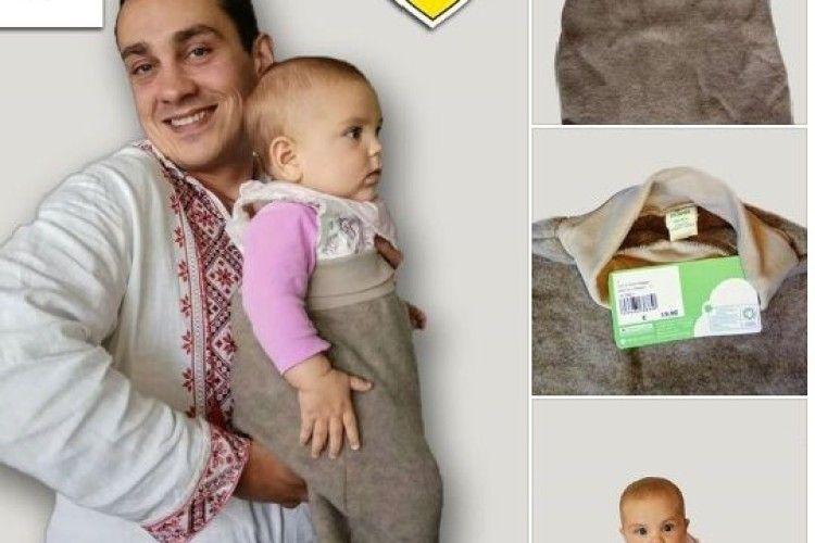 Данські добродії передали волинським немовлятам шерстяні спальні мішечки
