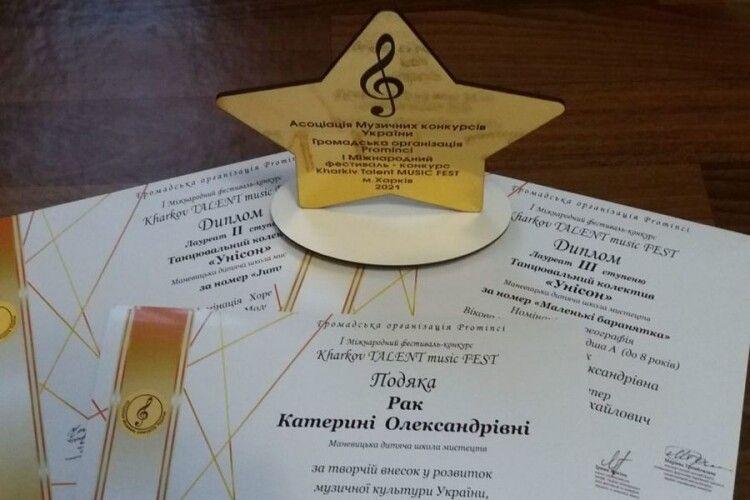 Маневицькі танцюристи здобули призові місця на фестивалі-конкурсі «Kharkiv music fest»