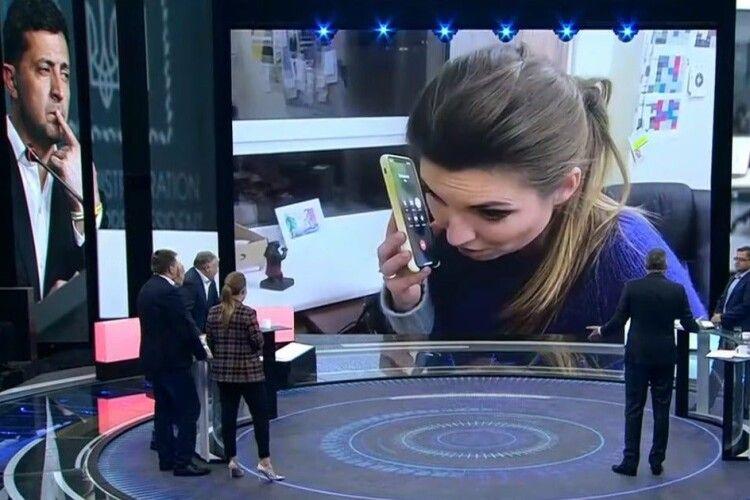 Російська пропагандистка Скабєєва поговорила по телефону із Зеленським (Відео)