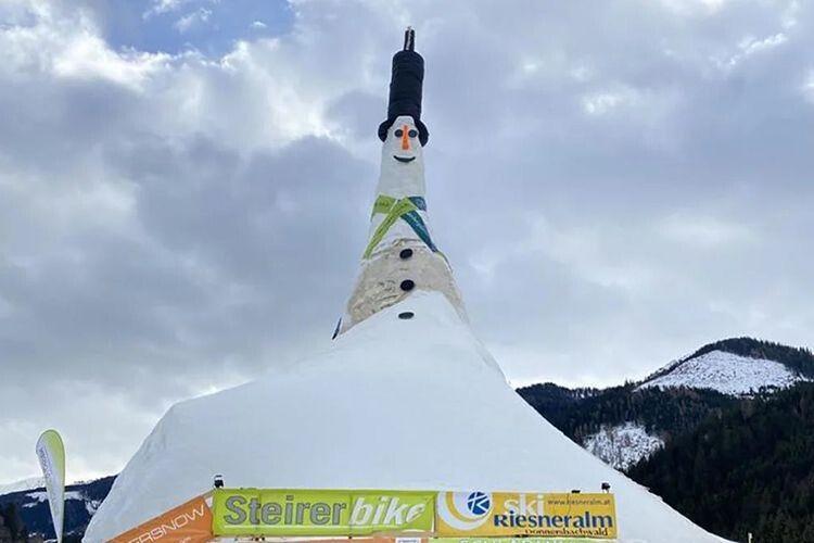 Порівняйте найвищого сніговика  на планеті із найвищим волинським
