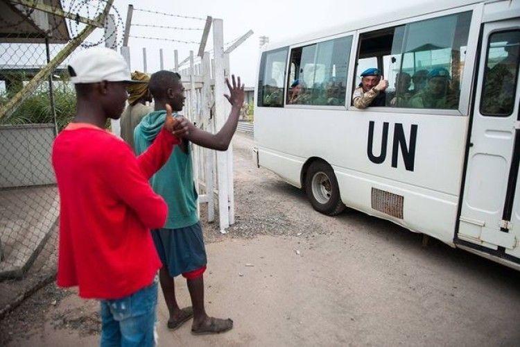 Українські миротворці повертаються з Ліберії додому