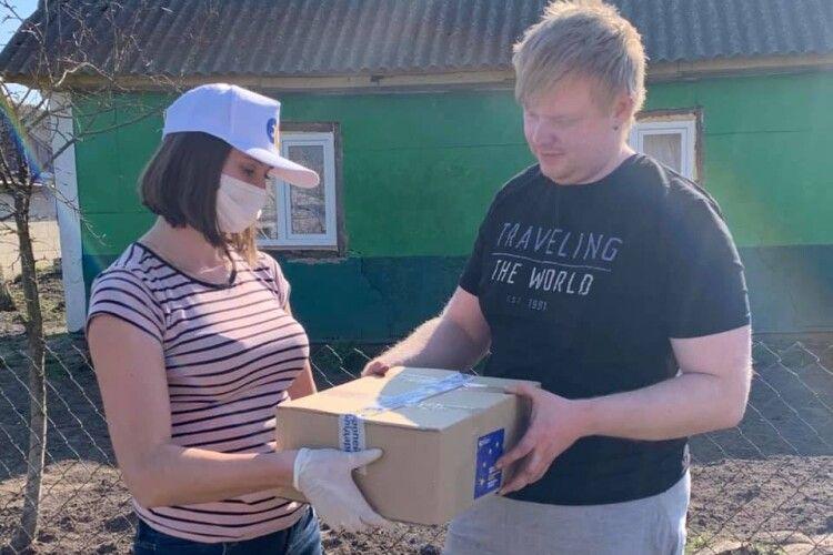 Волиняни отримали продуктові набори від Фонду Порошенка