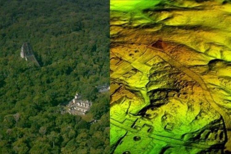 Археологи знайшли руїни понад 60 тисяч невідомих будівель майя